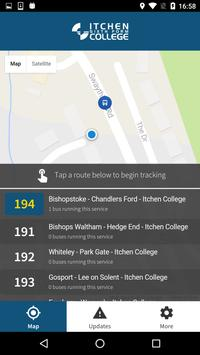 Itchen Bus Tracker poster