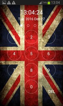 UK Flag Lock Screen poster