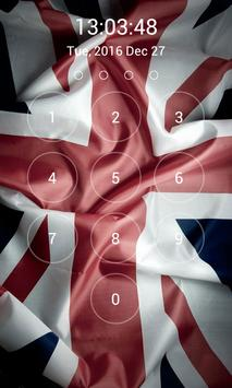 UK Flag Lock Screen screenshot 2