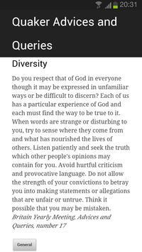 Quaker Advices and Queries apk screenshot