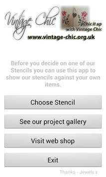 Vintage Chic Stencils apk screenshot
