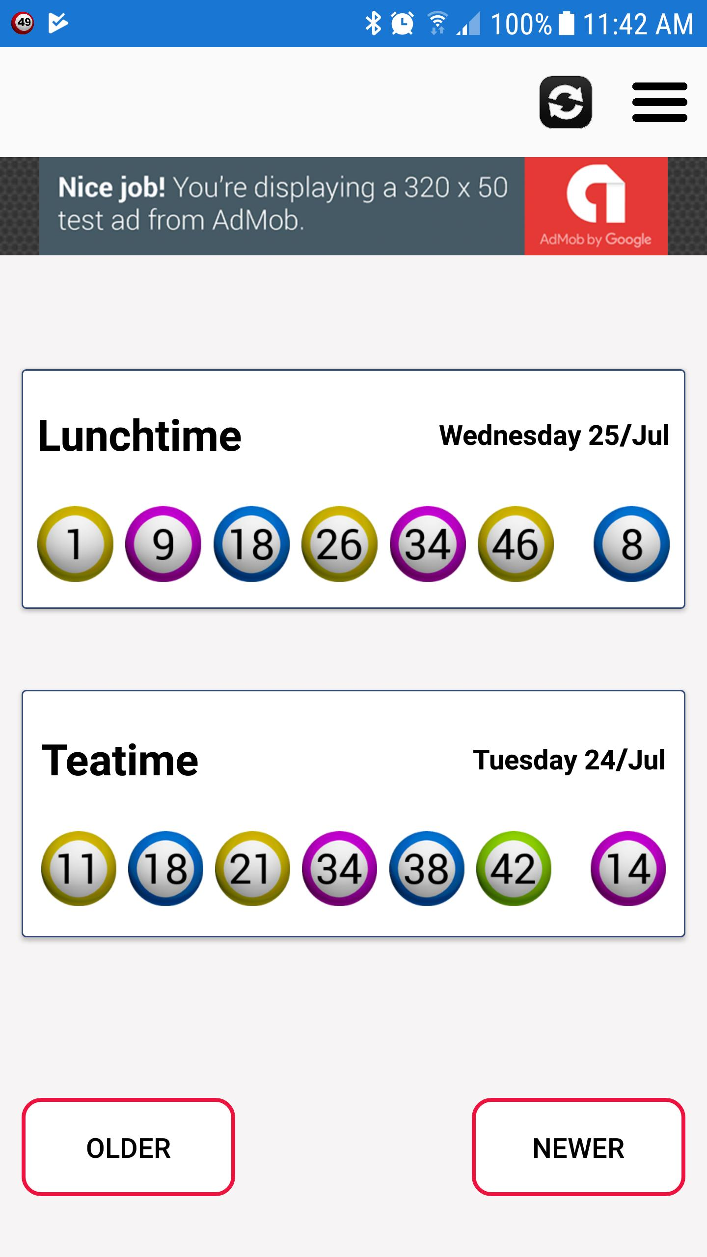 UK Lunchtime Results for Android - APK Download