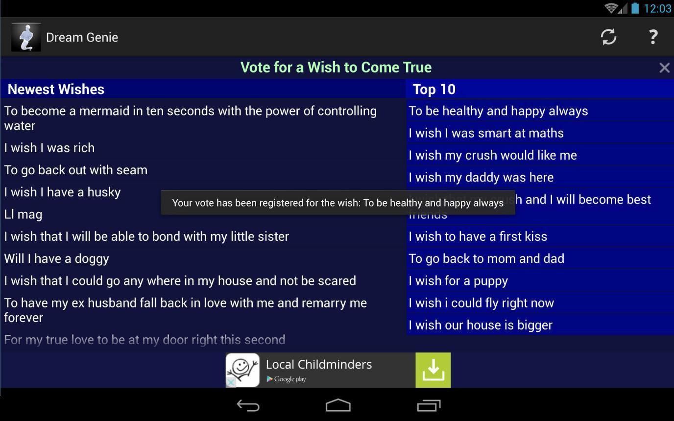 Make A Wish Come True Genie for Android - APK Download