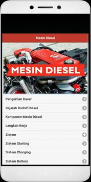 Diesel engine poster