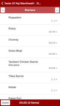Taste Of Raj Blackheath apk screenshot
