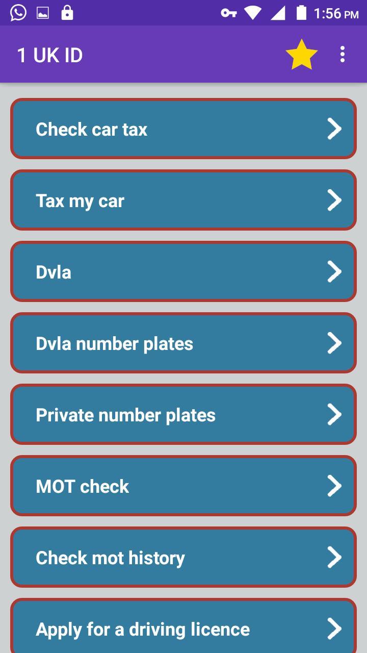 Uk Id Docs Check Road Tax Dvla Mot Passport Dbs For Android Apk