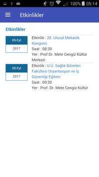 Uludağ Student Information System apk screenshot