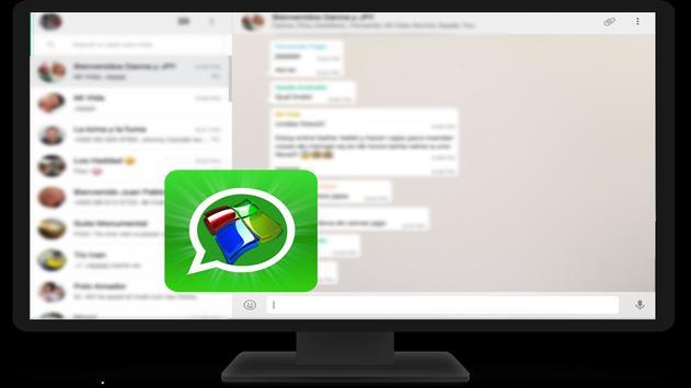Desktop Whatsapp Messenger guide for Android poster