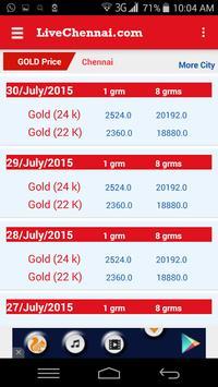 Live Chennai Gold rate / price apk screenshot