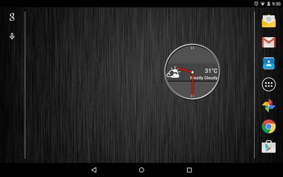 Slate Clock Widget [Free] apk screenshot