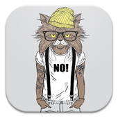 Hipster Cat Live Wallpapers icon