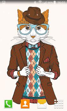 Hipster Cat Live Wallpapers poster