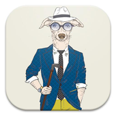 Hipster Dog Live Wallpapers icon
