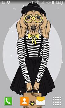 Hipster Dog Live Wallpapers screenshot 1