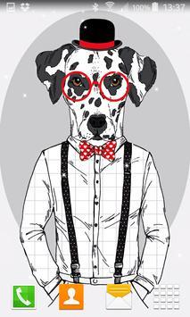 Hipster Dog Live Wallpapers screenshot 2