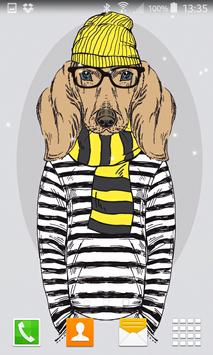 Hipster Dog Live Wallpapers screenshot 3