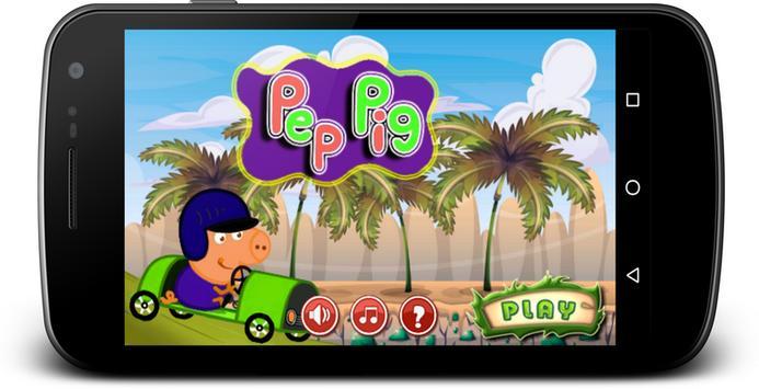 Pep Pig Pink Car apk screenshot