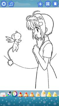 Sakura Cardcaptor Coloring Book screenshot 3