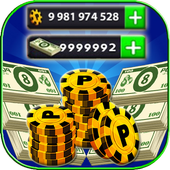 No Root Coins For 8 Ball Pool prank أيقونة
