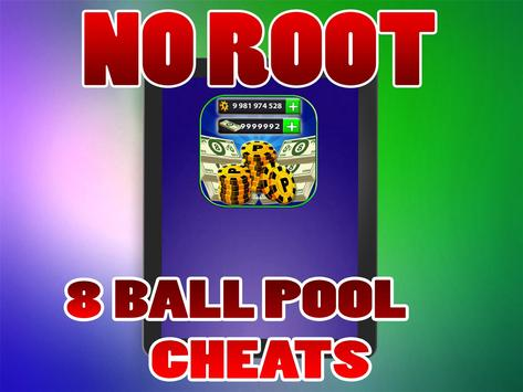 No Root Coins For 8 Ball Pool prank تصوير الشاشة 3