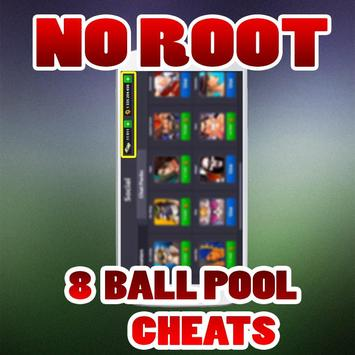No Root Coins For 8 Ball Pool prank الملصق
