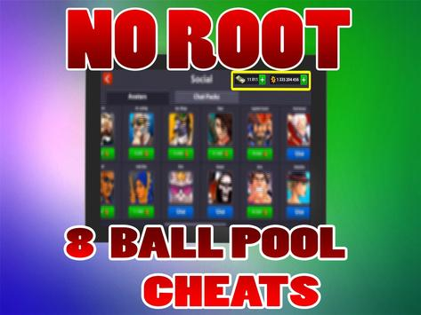 No Root Coins For 8 Ball Pool prank تصوير الشاشة 11