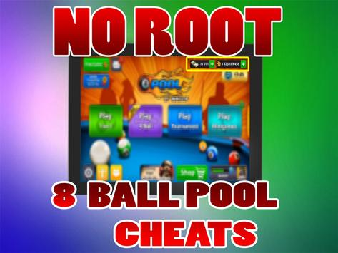 No Root Coins For 8 Ball Pool prank تصوير الشاشة 1