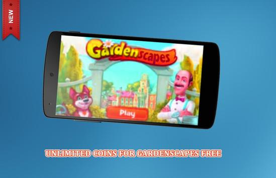 Coins cheats For Gardenscapes Prank (No Root) poster
