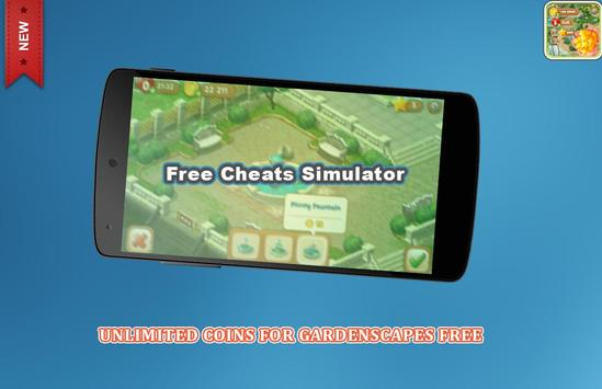 Coins cheats For Gardenscapes Prank (No Root) screenshot 2