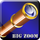 Telescope big zoom icon