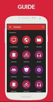 Guide for mobdro screenshot 1