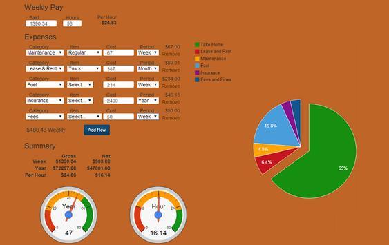 PortDriver Wage Calculator apk screenshot