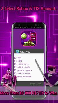 يمكنك تنزيل Instant Roblox Promo Codes Simulator Robux Tix Apk