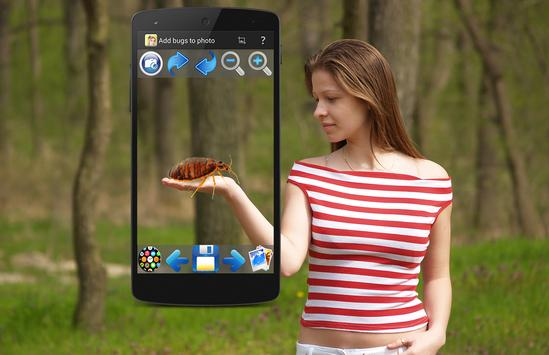 Bugs on photo prank poster