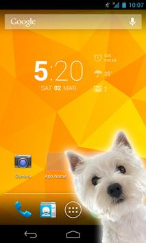 Virtual Dog In Phone Poster