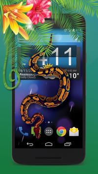 hissing snake on screen poster