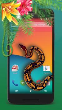 hissing snake on screen apk screenshot