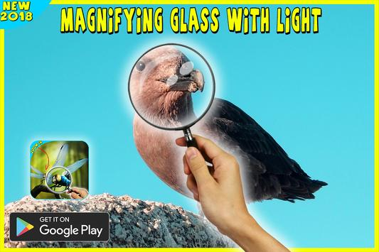 magnifying glass microscope + flashlight app screenshot 2