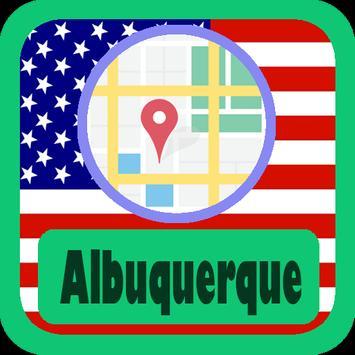 USA Albuquerque City Maps poster