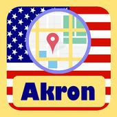 USA Akron City Maps icon