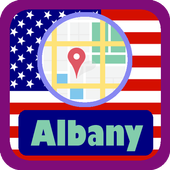USA Albany City Maps icon