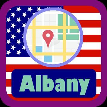 USA Albany City Maps poster