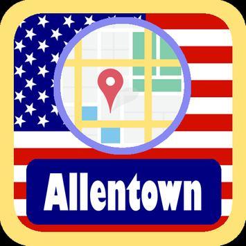 USA Allentown City Maps poster