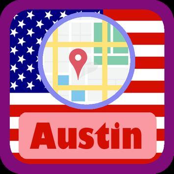 USA Austin City Maps poster