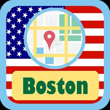 USA Boston City Maps poster