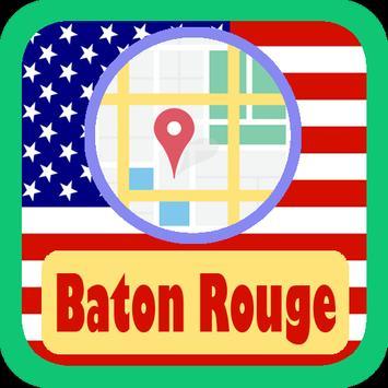 USA Baton Rouge City Maps poster