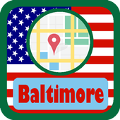 USA Baltimore City Maps icon