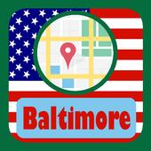 USA Baltimore City Maps icon
