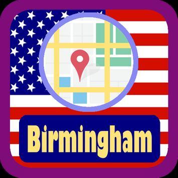 USA Birmingham City Maps poster