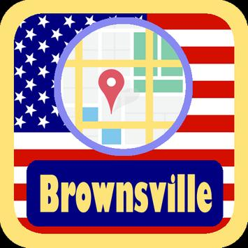 USA Brownsville City Maps poster